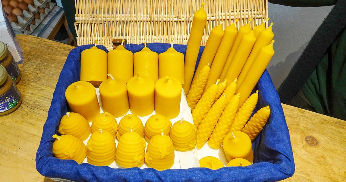 Bienenwachs-Kerzen